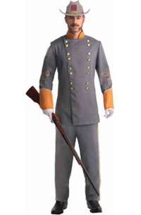 Adult Confederate Officer Halloween Costume