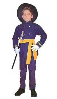 Child Civil War Union Officer Costume
